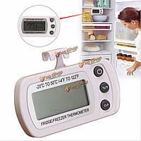 Водонепроницаемый ЖК-холодильник с морозильной камерой холодильник термометр инструмент висит крюк стенд