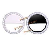 Портативный LED кольцо вспышки света фотографии камеры адаптер для iphone мобильного телефона