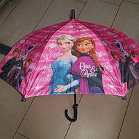 Зонт трость для девочки Холодное Сердце, фото 1