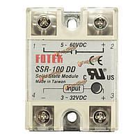 SSR-100 д.д. твердотельный модуль твердотельного реле постоянного тока 100а 3-32v DC/DC 5-60В, фото 1