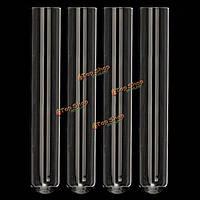 4шт Pyrex стекла выдувные трубки лабораторных испытаний tube150мм