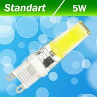 Светодиодная LED лампа Biom G9 5W 2508 5Вт тёплая