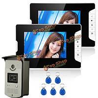 SYSD sy813meid12 видеодомофон телефон дверной звонок с 2-х мониторов 1 RFID считыватель карт 1000tvl камеры