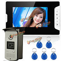 """Эннио sy813meid11 7"""" цветной видео домофон домофон дверной звонок с монитором камеры чтения RFID-карт"""