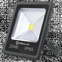 Светодиодный LED прожектор REALUX 20Вт 20W холодный