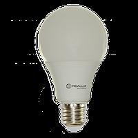 Светодиодная LED лампа REALUX A60 12Вт Е27 12W E27 холодная