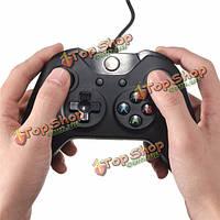 Майкрософт проводной контроллер видеоигры обрабатывать кабель для ПК Xbox один черный