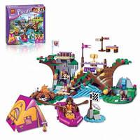 """Конструктор Bela Friends 10493 """"Спортивный лагерь: сплав по реке"""" (аналог LEGO Friends 41121), 325 деталей."""