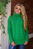 Теплый  свитерок-зеленый