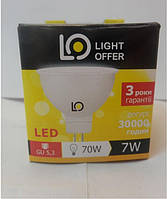 Светодиодная LED лампа LIGHTOFFER MR16 GU5.3 7W 7Вт нейтральная
