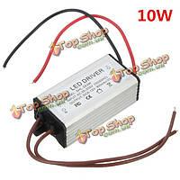 8-12V 10Вт 900мА трансформатор переменного/постоянного напряжения трубка света водонепроницаемый LED драйвер