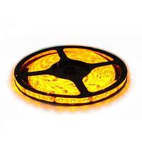 Светодиодная LED лента SMD 3528-60 Y жёлтая герметичная IP65 24V