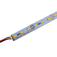 Светодиодная LED линейка SMD 5630-72 NW нейтральная с отверстиями