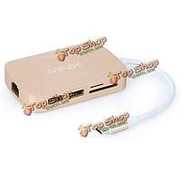 MINIX нео с С-типа мультипортовый адаптер с VGA-выход локальных сетей гигабита USB3.0 х слот для карт памяти SD Card 2 тф