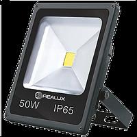 Светодиодный LED прожектор REALUX 50Вт 50W холодный