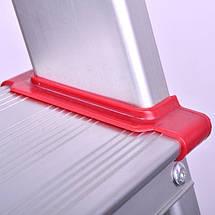Стремянка алюминиевая 4 ступени INTERTOOL LT-1004, фото 3