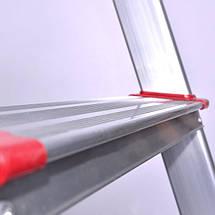 Стремянка алюминиевая 8 ступеней INTERTOOL LT-1008, фото 3