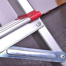 Стремянка алюминиевая 8 ступеней INTERTOOL LT-1008, фото 2