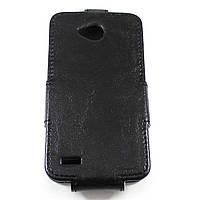 Чехол-флип для LG L80 D380 Чёрный Sirius