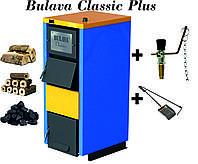 Твердотопливный котел BULAVA classiс plus 30 кВт. С регулятором тяги. Сталь 5 мм.