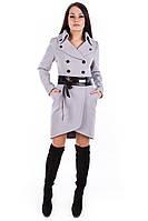 Женское светло-серое кашемировое осеннее пальто арт. Кураж 90 - 2321