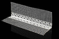 Угол ПВХ перфорированный с сеткой ( фасадный)  100х150х3000мм