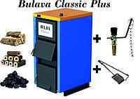 Твердотопливный котел BULAVA classiс plus 12 кВт. С регулятором тяги. Сталь 4 мм.