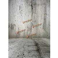1.цементно-серый кирпичной стене фотографии студии 5x2.1m 5x7ft винил фон фон