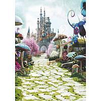 90x150см 3x5ft сказка гриб замок винилового фотостудия фон реквизита фон