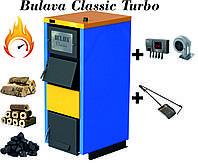 Твердотопливный котел BULAVA classiс turbo 30 кВт. С турбиной и автоматикой. Сталь 5 мм.