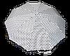 Эксклюзивный женский зонт в черный горох