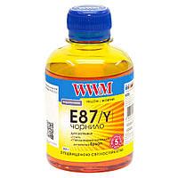 E87/Y Чернила (Краска) Yellow (Желтый) Светостойкие Водорастворимые (Водные) 200г