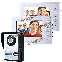 SYSD sy819fa12 7-дюймов видео домофон дверной звонок Интерком комплект с ночного видения камеры и мониторы 2