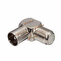 90° F разъем Прямоугольный ТВ штекер коаксиального кабеля коаксиальный мужской штепсель антенны кабель