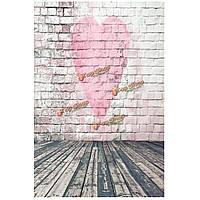 1x1.5m 3x5ft Валентина сердце любовь винил фотографии фоном фон фото студия реквизита