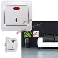 1-клавишный 2-долговечны контроллер LED настенная розетка панели переключателя света лампы