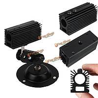Черный алюминиевый радиатор радиатор для хозяина основания 12мм лазера