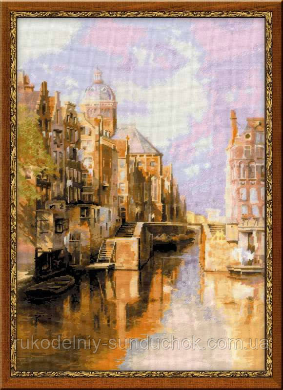Набор для вышивания крестом «Амстердам. Канал Аудезейтс Форбургвал» по мотивам картины И. Клинкенберга» 1190