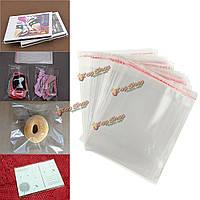100шт 12 * 16см прозрачные мешки дисплей целлофан самоклеющаяся пломба пластиковые карты