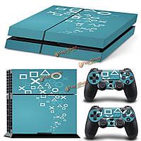 Обложка кожи наклейки наклейка декор для PlayStation 4 ps4 консоль + 2 контроллера