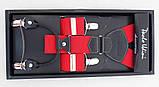 Мужские подтяжки красного цвета Paulo Udini, фото 3