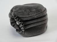 Женская шапка Румынка нерпа темно-серая