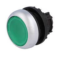 Головка кнопки Eaton M22-DL-G з підсвіткою, з самоповерненням, плоска, зелена