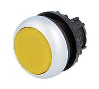 Головка кнопки Eaton M22-DL-Y з підсвіткою, з самоповерненням, плоска, жовта