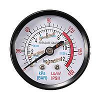 1/4-дюйма BSP резьба 0-180psi датчик 0-12bar давления воздуха для воздушного компрессора железа