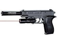 Пистолет P2118-D с лазером и глушителем