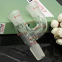 3 способ Кляйзена стекло адаптер со всеми суставов 24/29 боросиликатного стеклотары