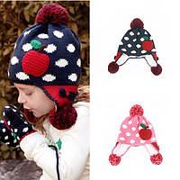 Шапка, шапочка с ушками демисезонная / зимняя для девочек, р. 2-8 лет
