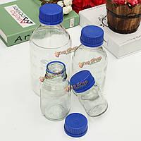 Бутылки с реагентами эксперимент стекло синее винтовой крышкой 100мл 250мл 500мл 1000мл
