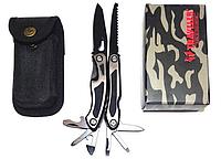 Нож многофункциональный TRAVELER MQ-003 (нержавеющая сталь, 9 предметов) MS